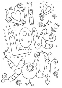 Love Coloring Pages to Print 16472