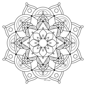 Mandala Design Coloring Pages 7749c