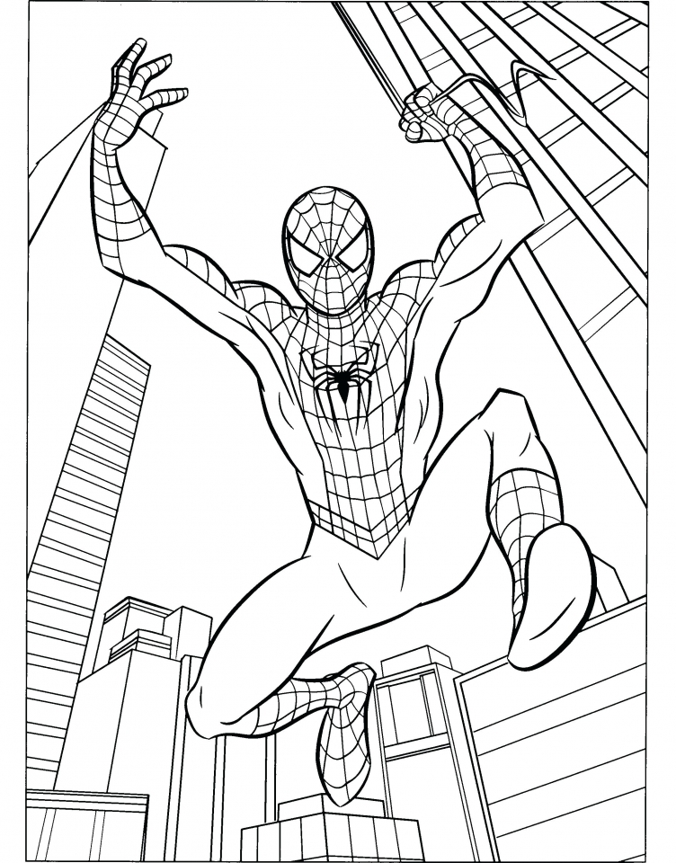 Get This Marvel Coloring Pages Spiderman 05619