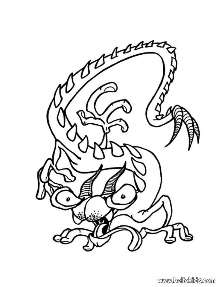 Monster Coloring Pages Free to Print   06nv7