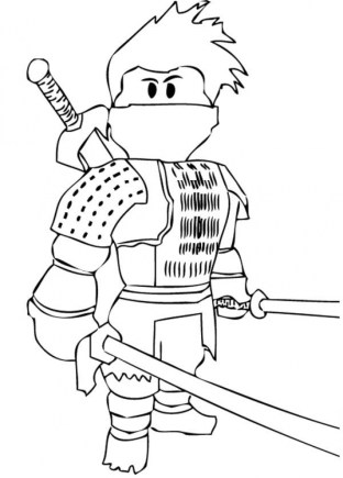 Ninja Coloring Pages for Kids 7ah4m