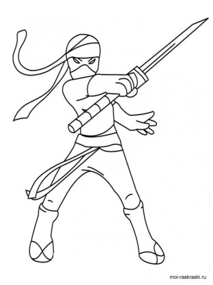 Ninja Coloring Pages for Kids hdn59