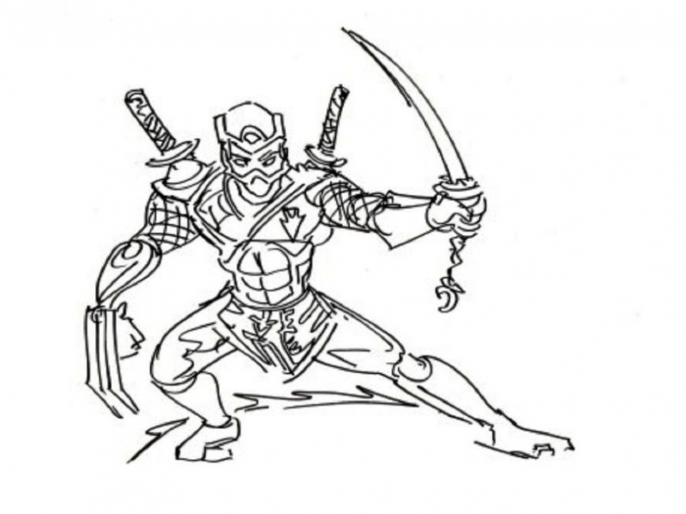 Get This Ninja Coloring Pages Free R216a