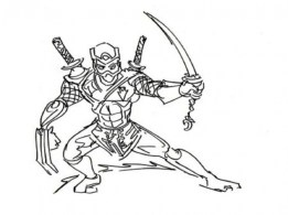 Ninja Coloring Pages Free r216a