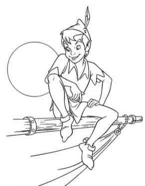 Peter Pan Coloring Pages Disney Printable ahex7