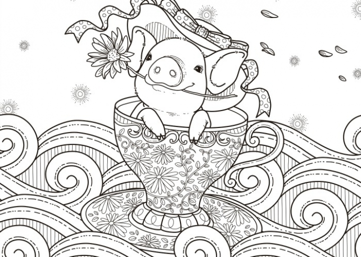 pig coloring pages for adults   cb84m