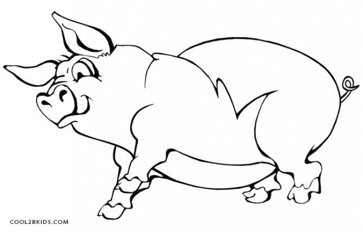 Pig Coloring Pages Printable   w2750