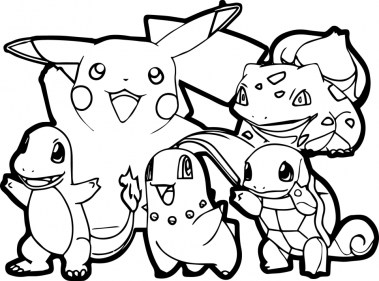 Pikachu Coloring Pages Free arzt2