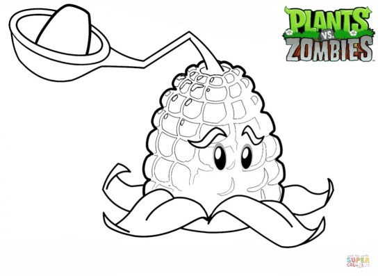 Plants Vs. Zombies Coloring Pages Free for Kids 156ag