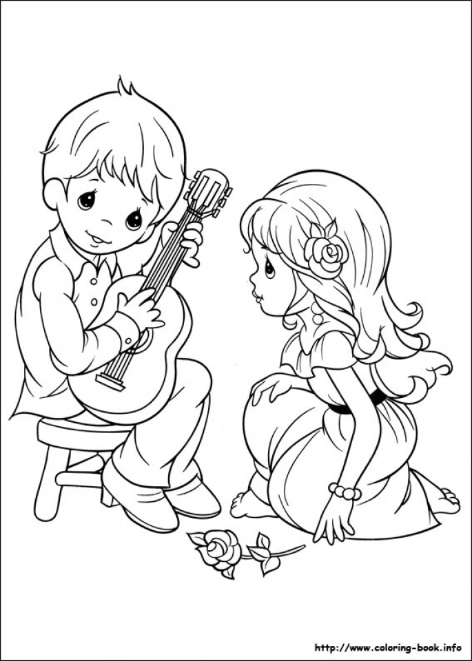 Precious Moments Boy and Girl Coloring Pages   9yfg3