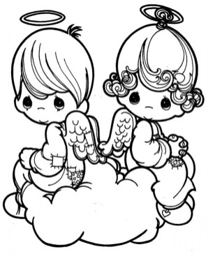 Precious Moments Coloring Pages for Kids 84991