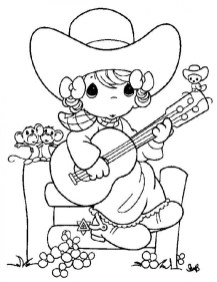 Precious Moments Girl Coloring Pages 6621n