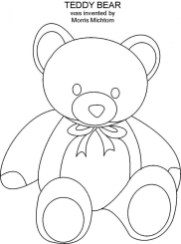 Printable Coloring Pages of Teddy Bear 7638l