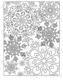 Printable Snowflake Coloring Pages for Adults 67491