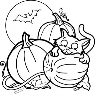 Pumpkin Halloween Coloring Pages for Preschoolers 67301
