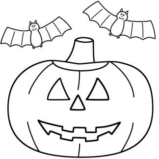 Pumpkin Halloween Coloring Pages for Preschoolers 74619