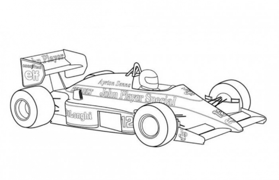 Race Car Coloring Pages Free Printable   16xm9