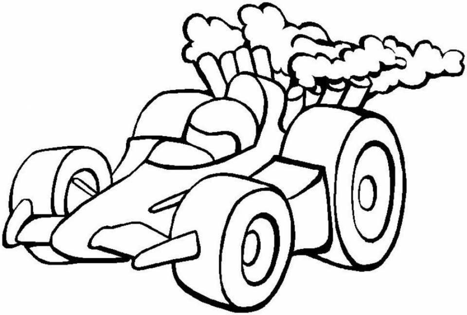 Race Car Coloring Pages Free Printable   5xm61