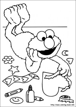 Sesame Street Coloring Pages for Toddlers 85037