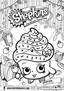 shopkins coloring pages cupcake queen 72107