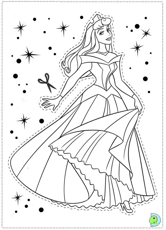 Disney Princess Sleeping Beauty Aurora Colouring Pages Free For ... | 960x691