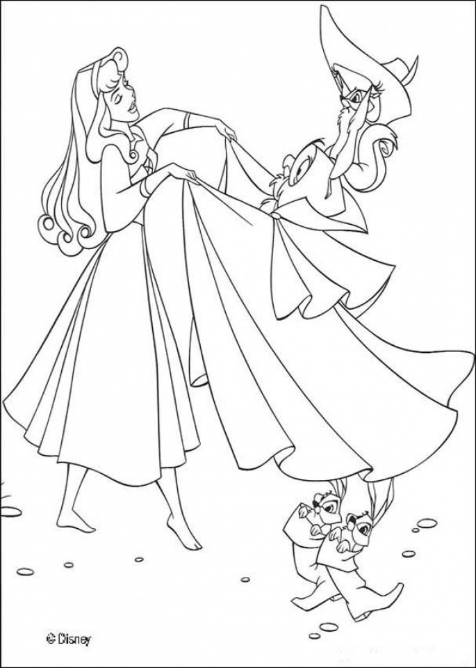 Sleeping Beauty Coloring Pages Printable   5dhwm