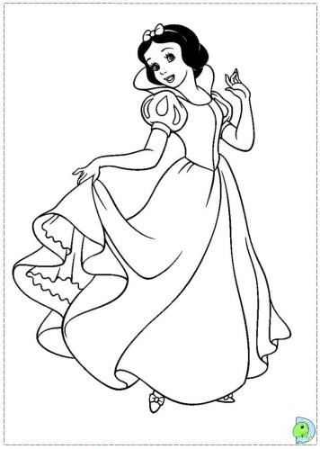 Snow White Coloring Pages Printable cgd75