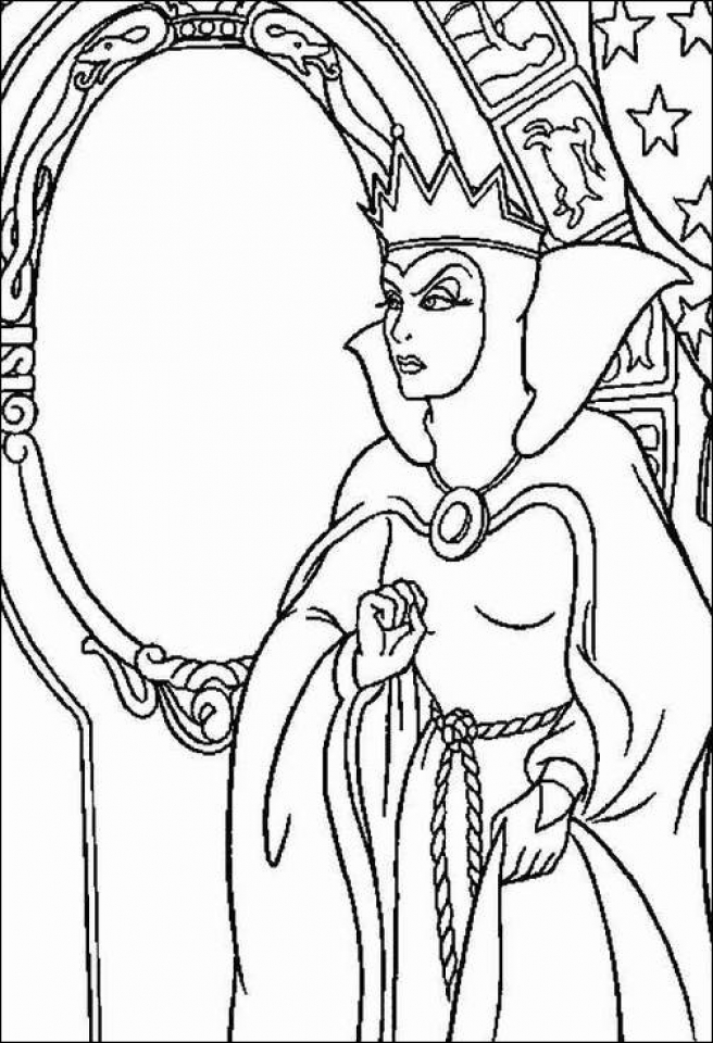 Snow White Witch Coloring Pages Free   75hcb