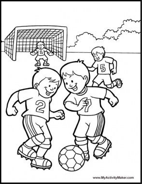 Soccer Coloring Pages for Kids 1v46v