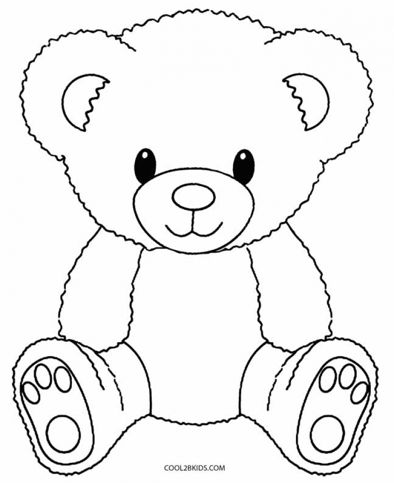 Teddy Bear Coloring Pages Free   716bd