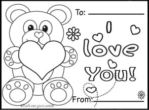 teddy bear with heart coloring pages 7ah31