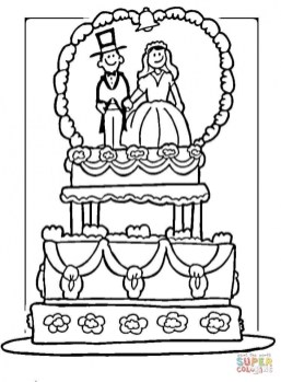 Wedding Cake Coloring Pages 817am
