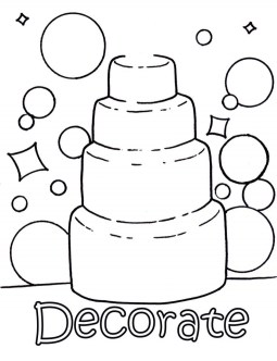 Wedding Cake Coloring Pages c4k3a