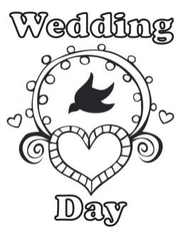 Wedding Coloring Pages Printable wa71m