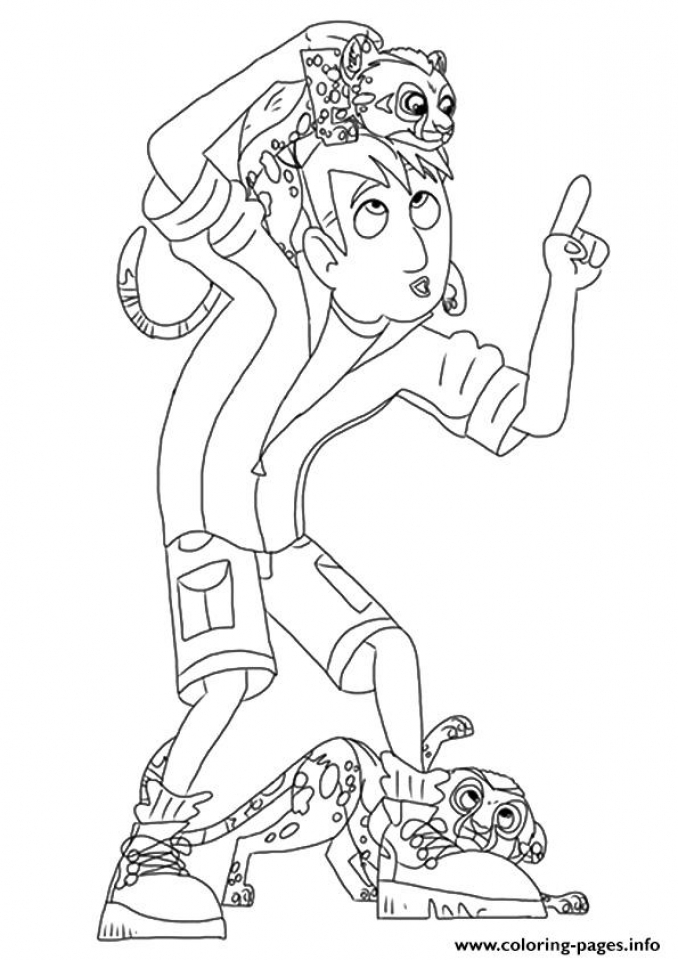 Wild Kratts Coloring Pages Free   tar3m