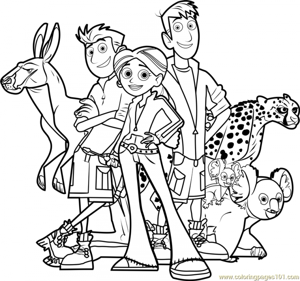 Wild Kratts Coloring Pages Online   6dg48