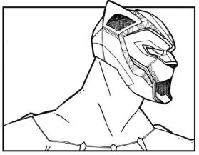 Black Panther Coloring Pages Free col9