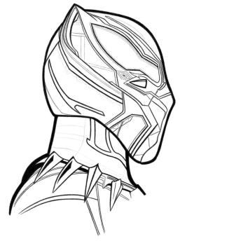 Black Panther Coloring Pages Free sid8