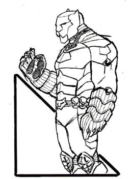 Black Panther Coloring Pages Printable rvg1