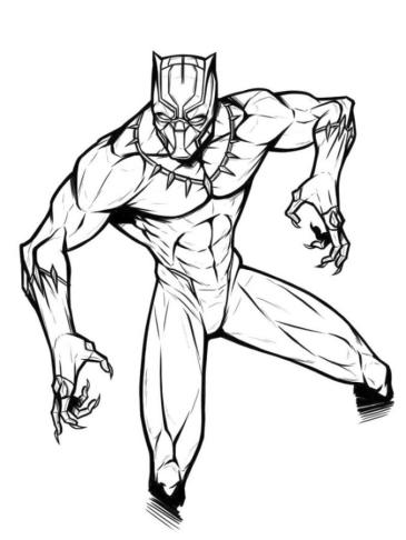 Black Panther Coloring Pages clw3