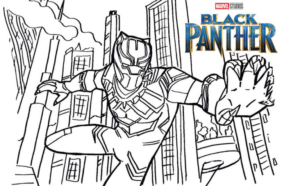 Black Panther Coloring Pages for Kids cty1