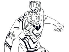 Black Panther Coloring Pages for Kids grt4