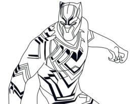 20+ Free Printable Black Panther Coloring Pages