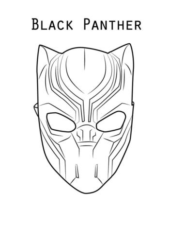 Black Panther Coloring Pages msk4