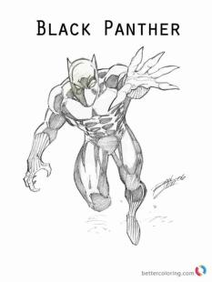 Black Panther Coloring Pages to Print rch0