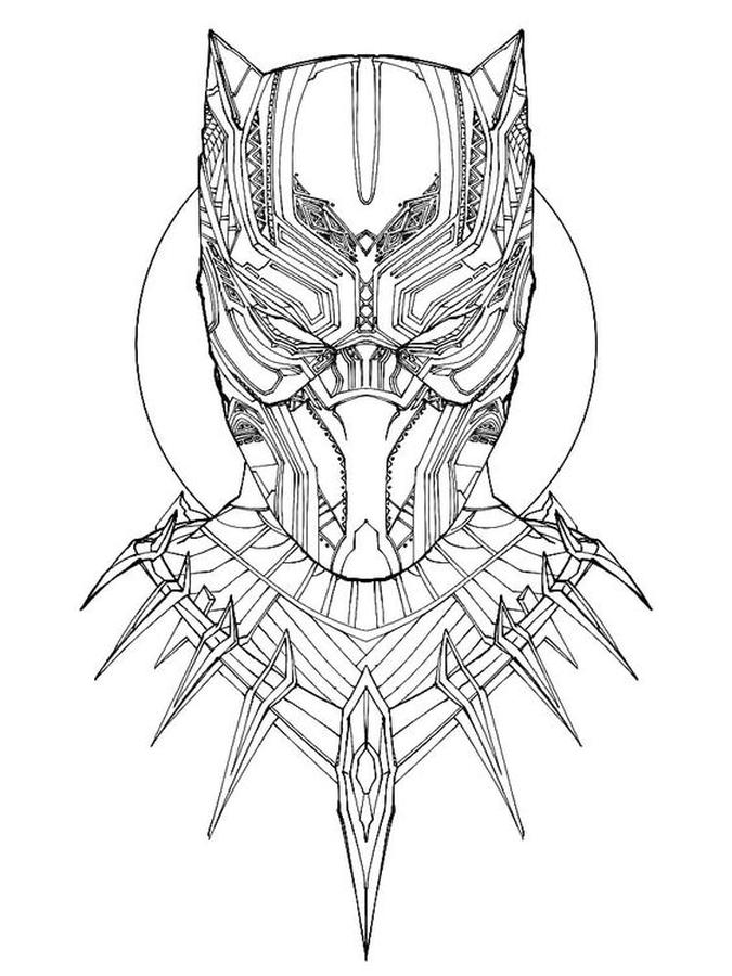 Free Black Panther Coloring Pages to Print shp3