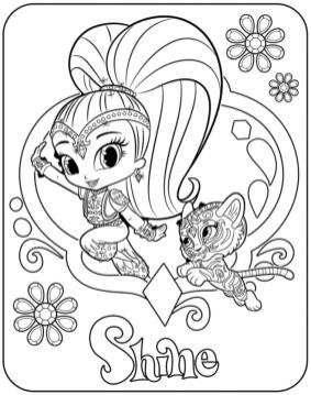Free Shimmer and Shine Coloring Pages for Kids lpi9