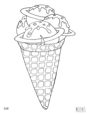 Ice Cream Coloring Pages 564n