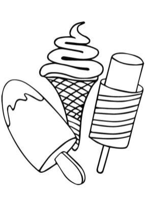 Ice Cream Coloring Pages Free 774r