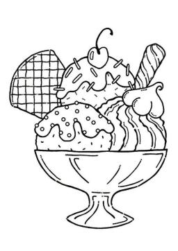 Ice Cream Coloring Pages Free 842z